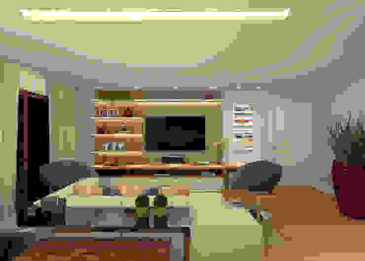 Salas de estar modernas por Konverto Interiores + Arquitetura Moderno