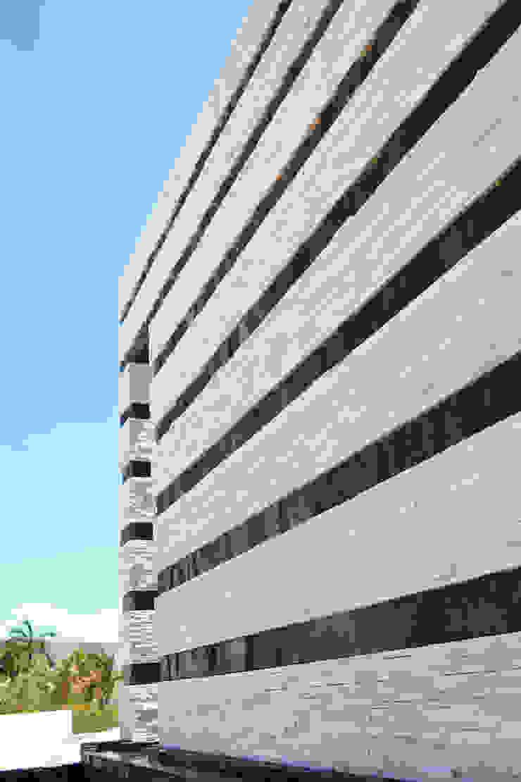 DETALLE MURO FACHADA PRINCIPAL Casas modernas de ro arquitectos Moderno