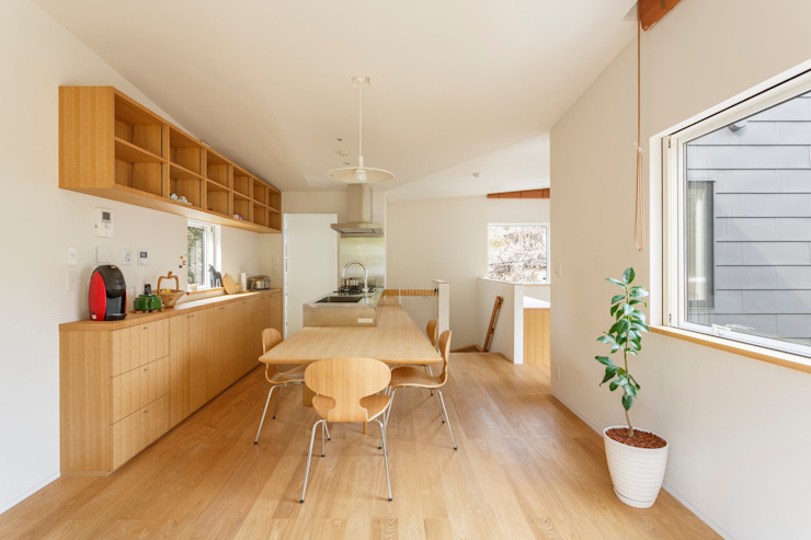 SOYsource建築設計事務所 / SOY source architects Minimalist dining room