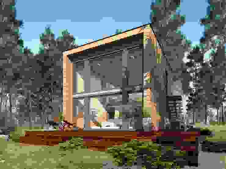 Chalets de estilo  por THULE Blockhaus GmbH - Ihr Fertigbausatz für ein Holzhaus, Moderno