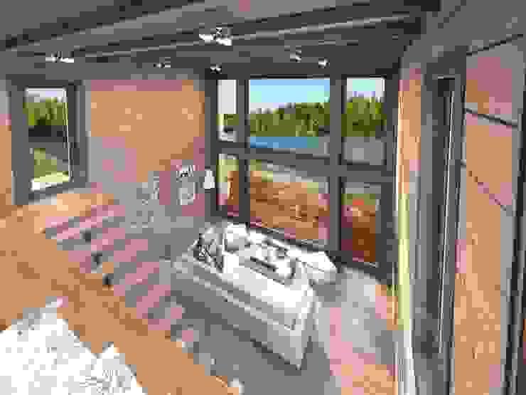 Casas unifamiliares de estilo  por THULE Blockhaus GmbH - Ihr Fertigbausatz für ein Holzhaus, Moderno