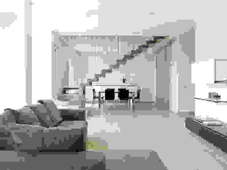 Recupero Sottotetto – Duplex 2 Soggiorno moderno di enzoferrara architetti Moderno