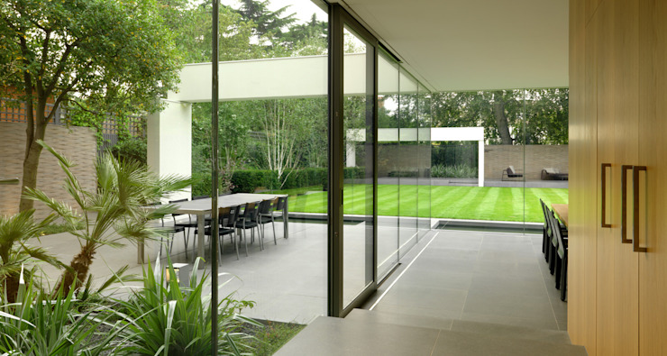 Wimbledon Gregory Phillips Architects Jardines de estilo moderno