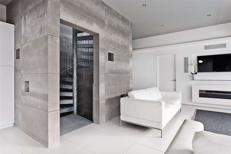 AR Design Studio- Lighthouse 65 Modern corridor, hallway & stairs by AR Design Studio Modern