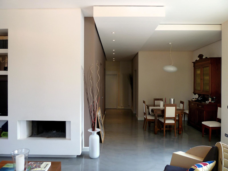 Living Sala da pranzo moderna di Blocco 8 Architettura Moderno