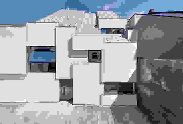 Ansicht Hinterhaus Häuser von Peter Haimerl . Architektur