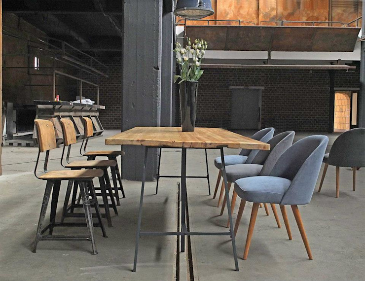 Industrial style dining room by works berlin Industrial