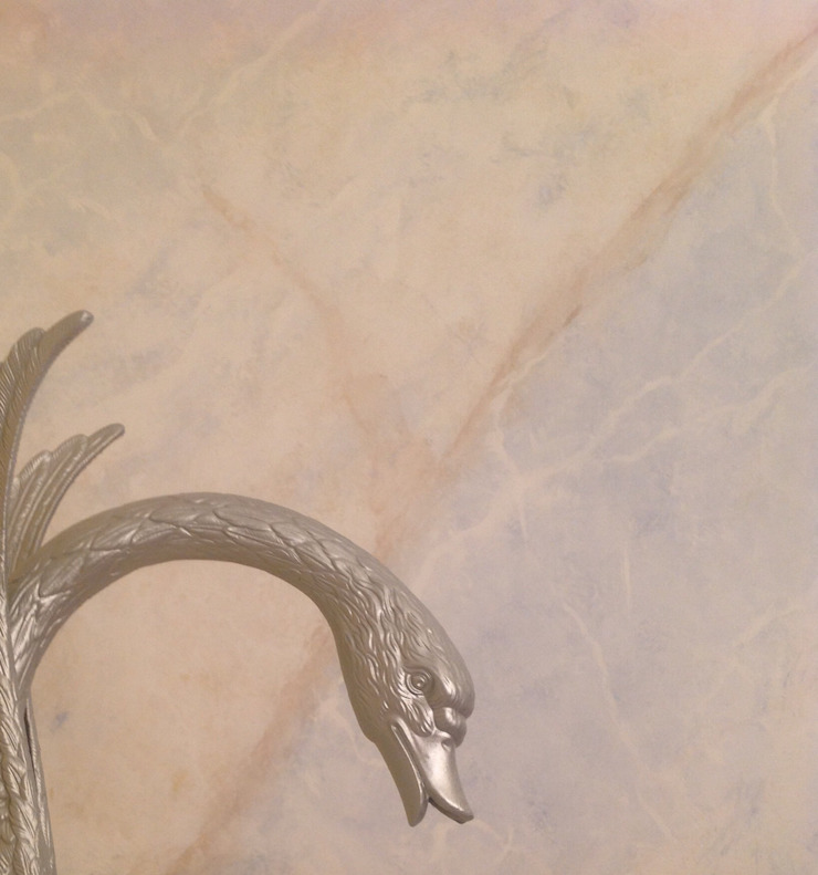 Marmormalerei in Pallisandro Blue von Illusionen mit Farbe Mediterran