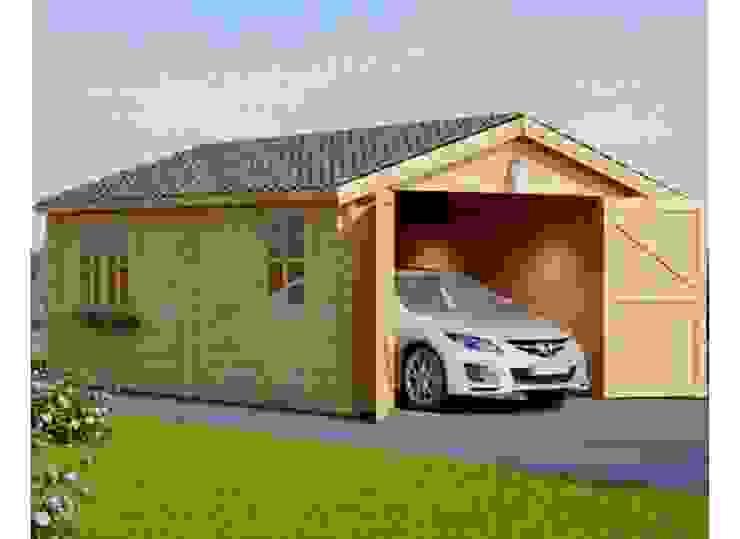 Holzgarage 400 x 600 44 mm, 24 m² Skandinavische Garagen & Schuppen von Pineca Group Skandinavisch
