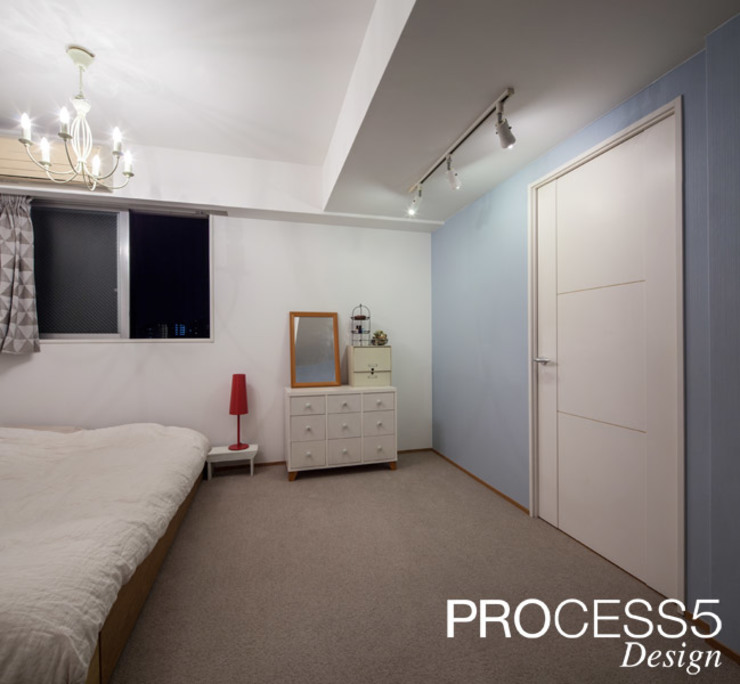 ST Family Residence: 株式会社PROCESS5 DESIGNが手掛けた寝室です。,ミニマル