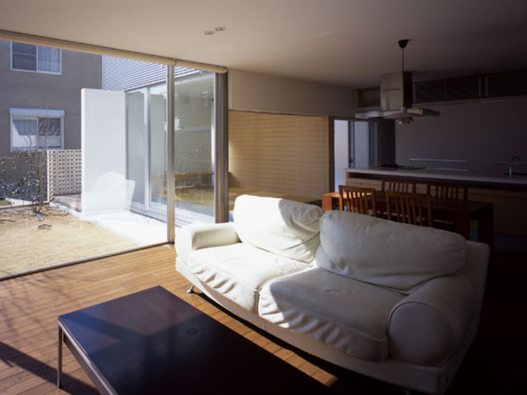 松が丘の家 モダンデザインの リビング の 小田裕二建築設計事務所 モダン