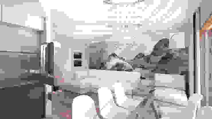 Minimalistische Wohnzimmer von Студия Маликова Minimalistisch