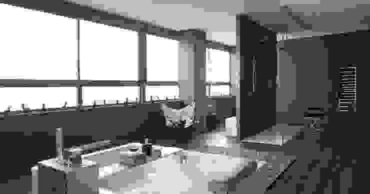 Block & Bath Baños de estilo moderno de BARASONA Diseño y Comunicacion Moderno