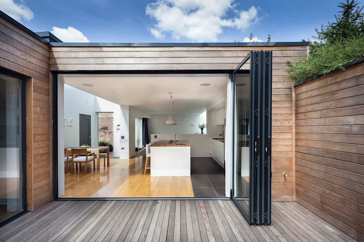 Courtyard House - East Dulwich Designcubed 露臺