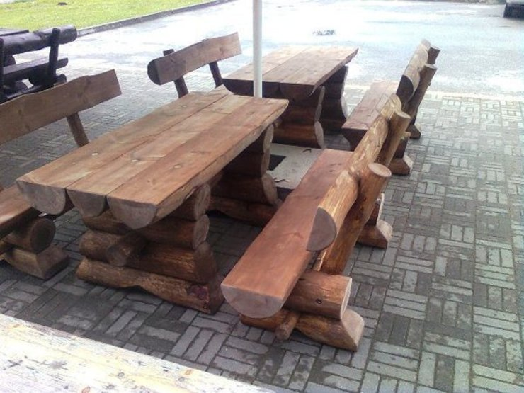 Rustic Garden Furniture de Baltic Gardens Ltd Rústico