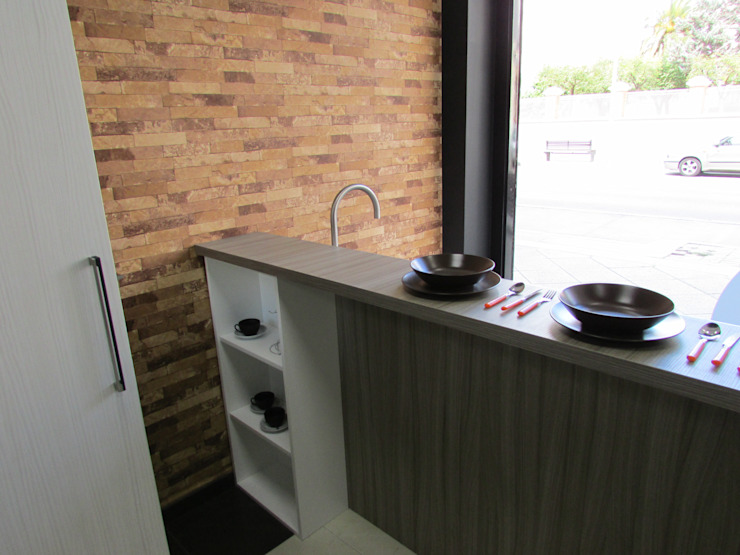 cristal visión de modern kitchen