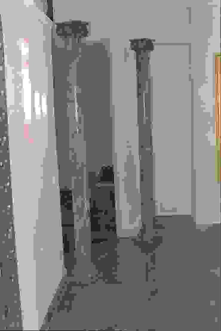 Azul de Macauba Säulen bemalt passend zu dem Boden von Illusionen mit Farbe Klassisch