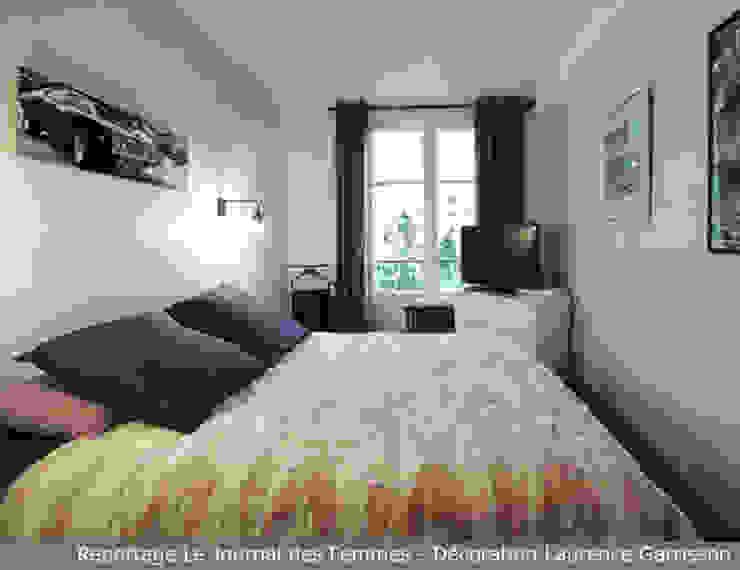 Appartement graphique masculin à Boulogne La Decorruptible Salon moderne