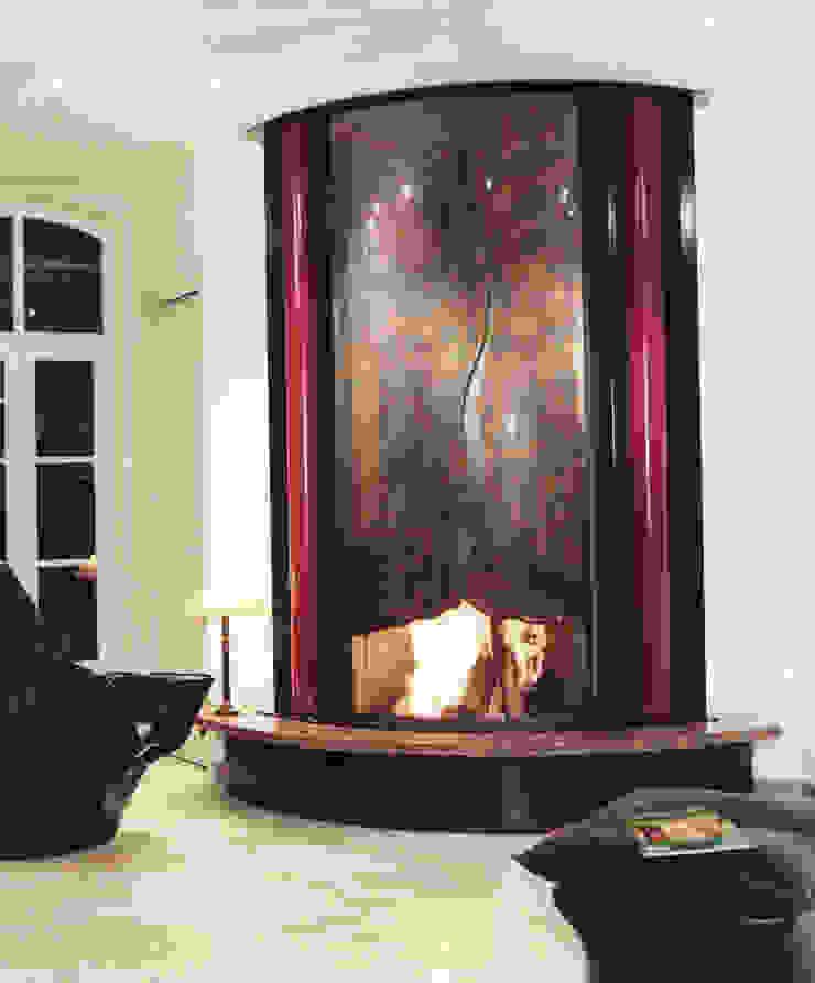 cheminée murale en metal par Bloch Design Asiatique