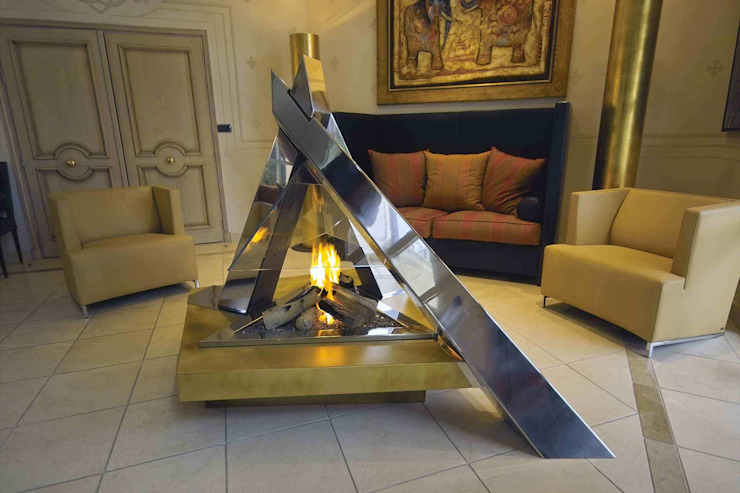 cheminée <q>feu de camp</q> par Bloch Design Moderne