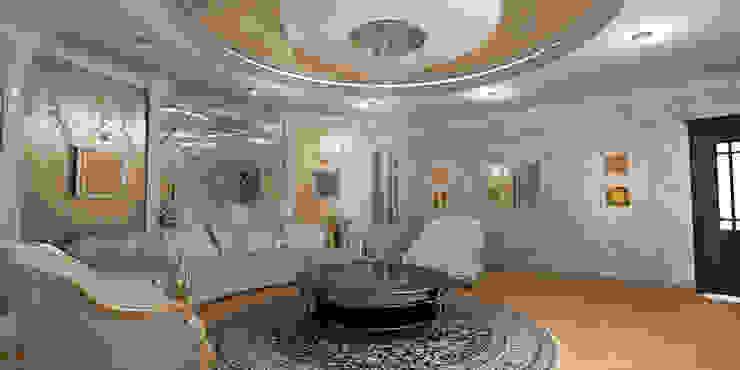 Благородная неоклассика Гостиная в классическом стиле от Студия Маликова Классический