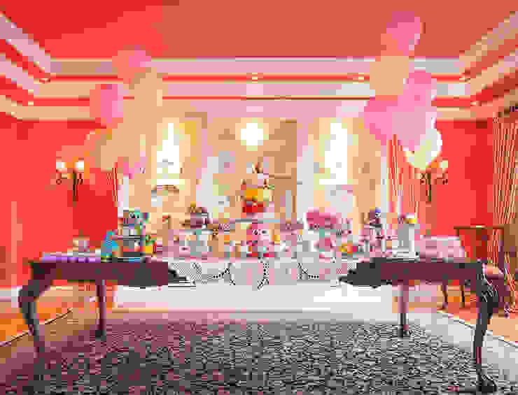 A linda e divertida mesa do bolo e doces do 1º aniversário da Maria Francisca. por Lima Limão- Festas com charme Moderno