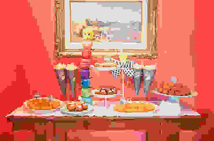 Mesa de salgados, divertida e saborosa. por Lima Limão- Festas com charme Moderno