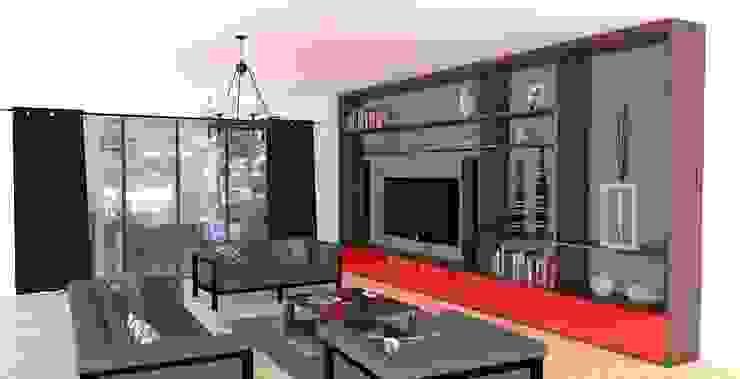 Piwko-Bespoke Fitted Furniture ห้องนั่งเล่นชั้นวางทีวีและตู้วางทีวี
