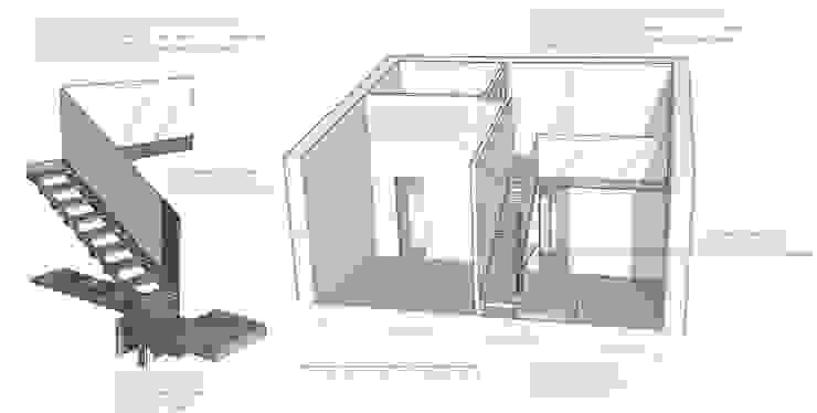 Schema nuova scala Sopalco di Diego Bortolato Architetto Moderno