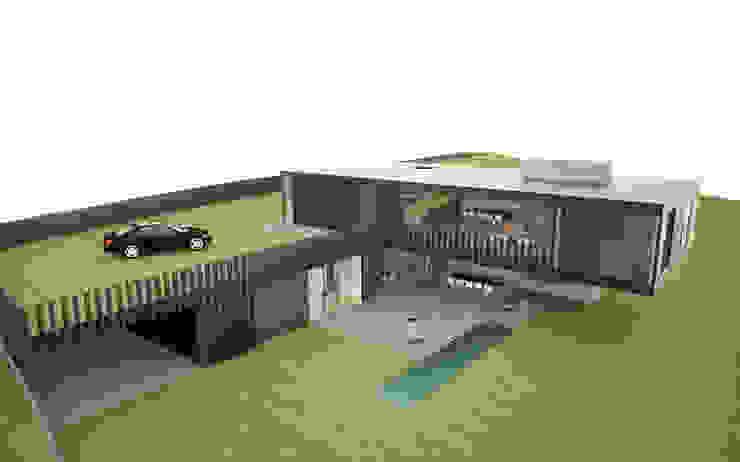 casa nera di fabio ferrini architetto Moderno