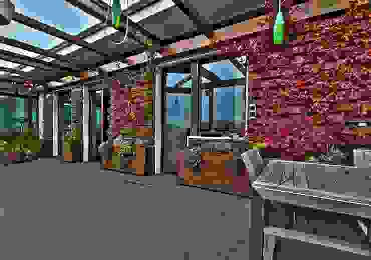 Private Flat APP_P_VA Balcone, Veranda & Terrazza in stile moderno di Diego Bortolato Architetto Moderno