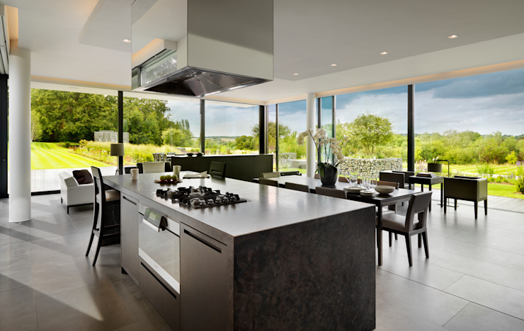 Berkshire Gregory Phillips Architects Cocinas de estilo moderno