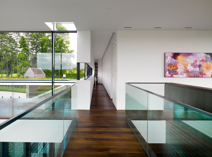 Berkshire Gregory Phillips Architects Modern Corridor, Hallway and Staircase