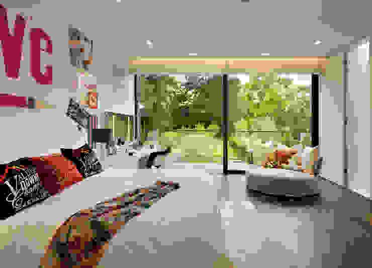 Berkshire Modern nursery/kids room by Gregory Phillips Architects Modern