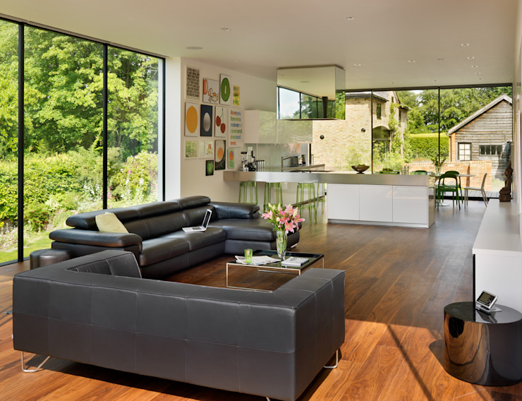 Guildford Salas de estar modernas por Gregory Phillips Architects Moderno