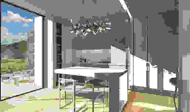 ambienti di qualità in piccoli spazi Sala da pranzo moderna di Giussani Patrizia Moderno