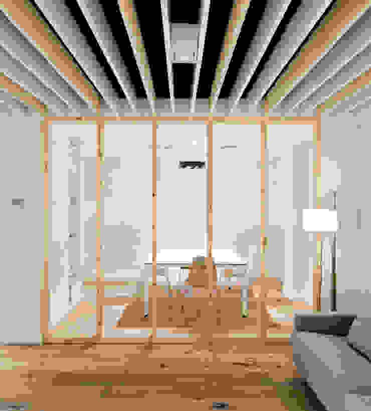 Sala de reuniones en Oak Showroom Oficinas y tiendas de Anna & Eugeni Bach