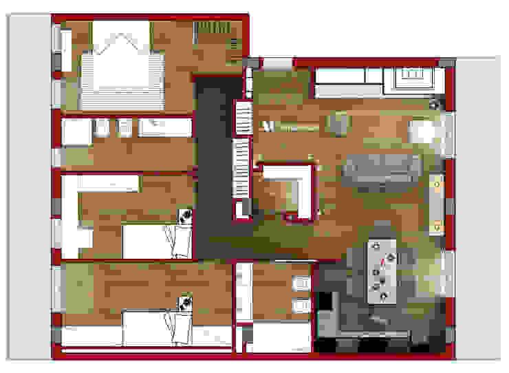 Pianta Case moderne di AG Interior Design Moderno