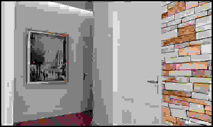 G_House Ingresso, Corridoio & Scale in stile moderno di AG Interior Design Moderno