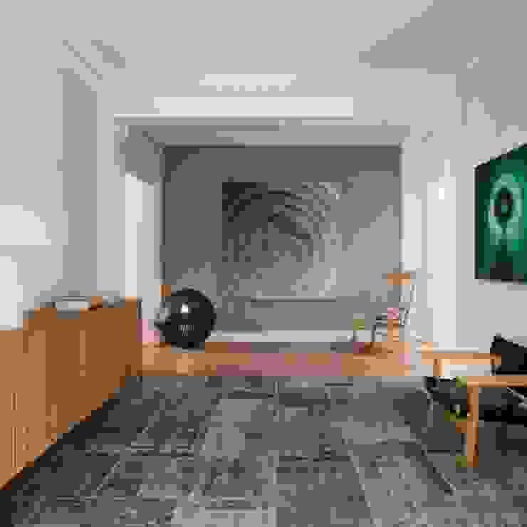 VIVIENDA TRAVESSERA Pasillos, vestíbulos y escaleras de estilo colonial de The Room Studio Colonial