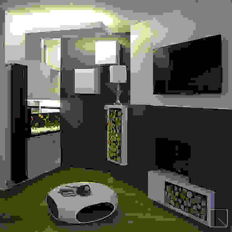 Ruang Keluarga Modern Oleh d2w studio Modern