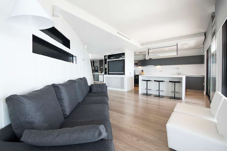 Black&white House Cocinas de estilo moderno de Blank Interiors Moderno