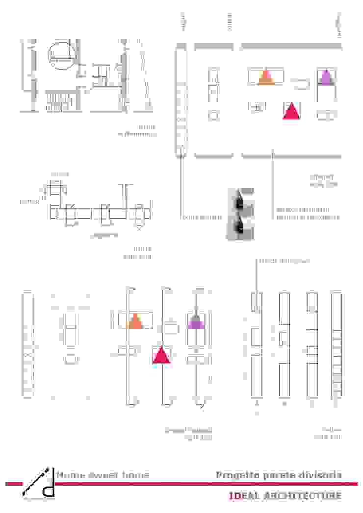 _Pogetto parete in cartongesso Case moderne di Idealarchitecture Moderno