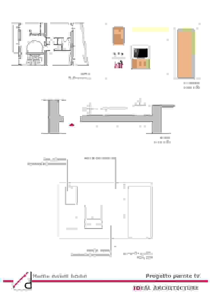 _Pogetto parete tv Case moderne di Idealarchitecture Moderno