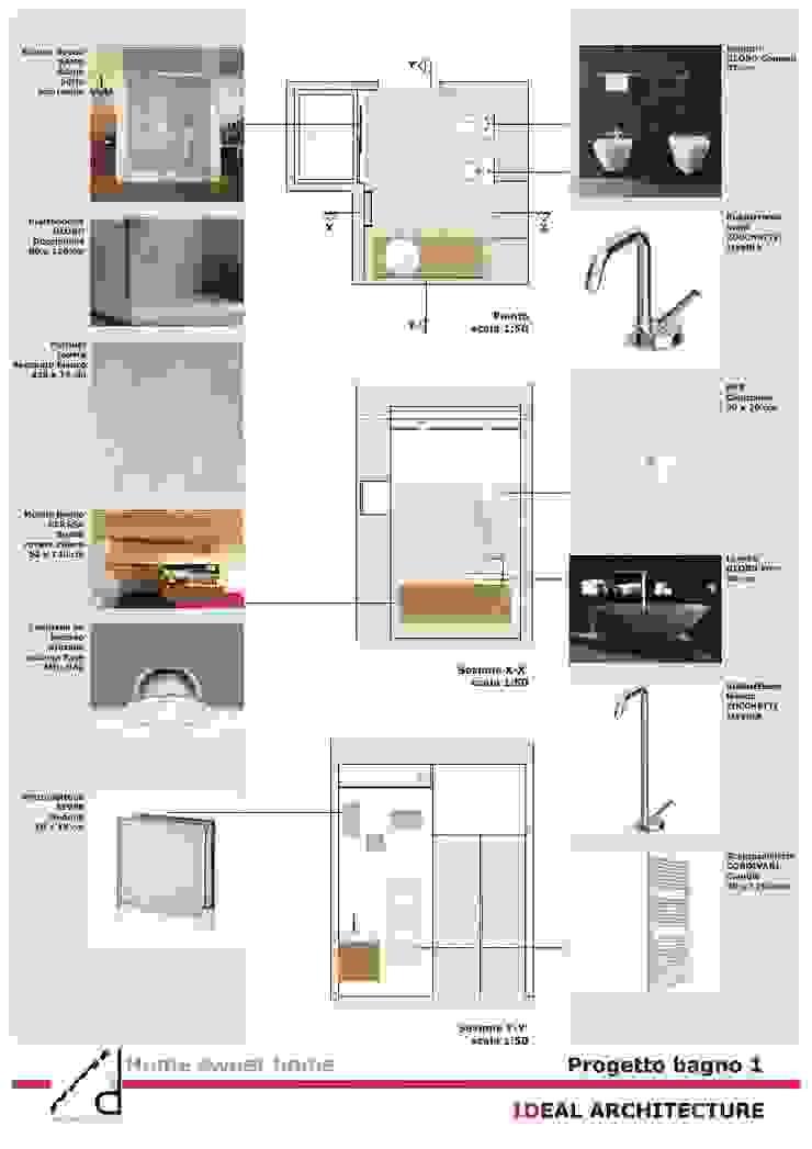 _Pogetto bagno principale Case moderne di Idealarchitecture Moderno