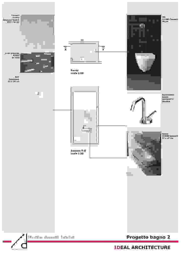 _Pogetto bagno secondario Case moderne di Idealarchitecture Moderno