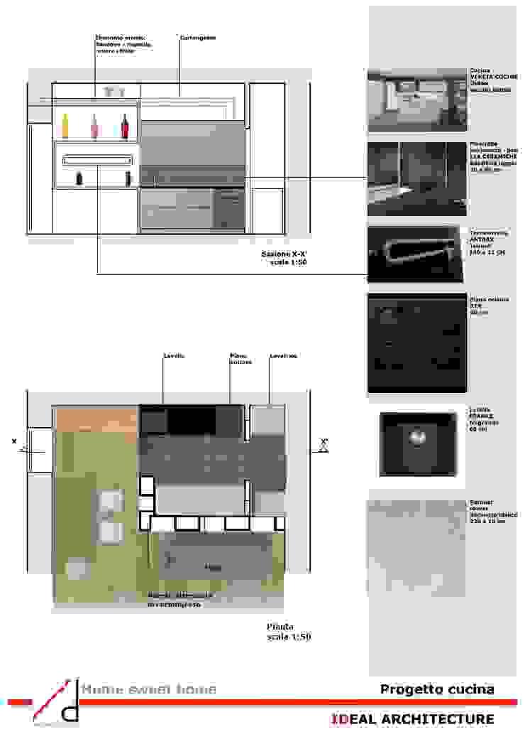 _Progetto cucina Case moderne di Idealarchitecture Moderno