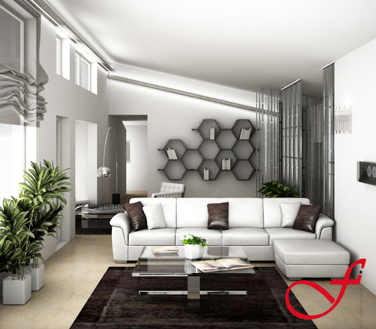 Livings modernos: Ideas, imágenes y decoración de Fenice Interiors Moderno