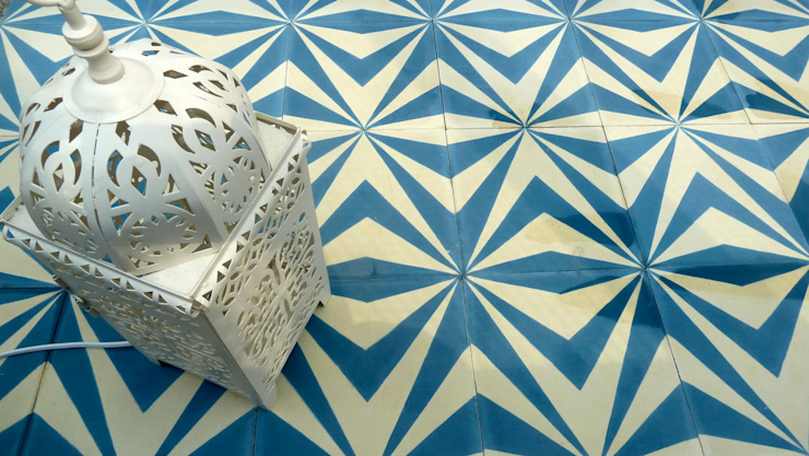 Neo cement tile: mediterranean  by Maria Starling Design, Mediterranean