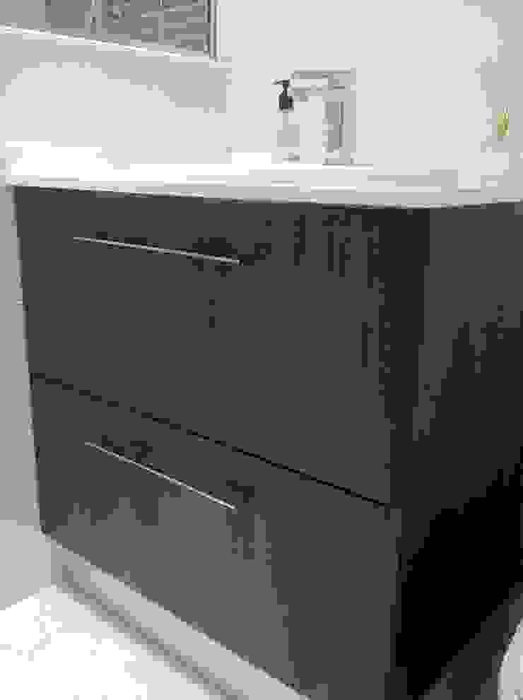 Reforma de baños de Tatiana Doria, Diseño de interiores Rústico
